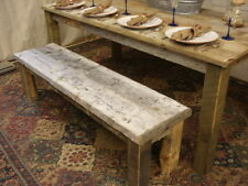 "Bench, driftwood Bench, (48""x 13"" x 16"" high) (Pictured is 60"" x 15""x16""H)"