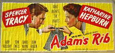 "US 24 sheet Huge ""ADAM'S RIB"" Movie Poster Billboard Katharine Hepburn 1949."