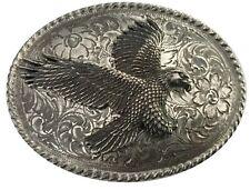 Vtg Bald Eagle Belt Buckle Head Bird Hawk Pewter USA Beak Animal Silver Mens old