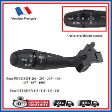 Commande Commodo Commutateur Peugeot 206 207 307 1007 avec Klaxon 96477533XT