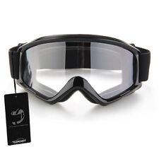CARCHET Noir Lunettes Moto Cross Goggle Eyewear Glasses Protection Noir