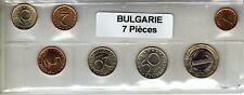 Bulgarie série de 7 pièces de monnaie
