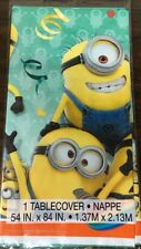Despicable Me Plastic Table Cover Kids Birthday Party Decoration Supplies Minion