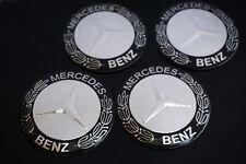 4Pcs Black Mercedes Benz 56.5mm Car Wheel Center Hub Cap Badge Emblem Sticker