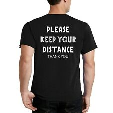 Keep Your Distance - Social Distancing - Virus Safety - Back Print T-Shirt