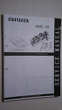 New listing Aiwa amd-50 service manual original repair book stereo minidisc player 57 pages