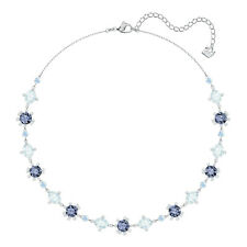 Swarovski Crystal Olive All Around Necklace Blue/Cry 5480481.New In Box