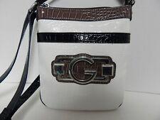 Elegant Guess Crossbody Hobo Handbag Purse Black & White Color