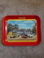 """Vintage 1994 Issue COCA-COLA Collectible Diecast Metal SERVING TRAY: """"50's DINER"""