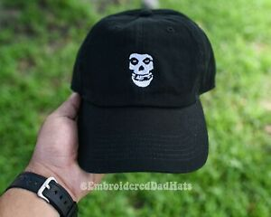 The Misfits Hat Punk Rock Band Music Embroidered Dad Hat Baseball Cap