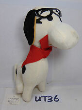 VINTAGE JAPAN DOG STUFFED ANIMAL ST LOUIS CARNIVAL SUPPLY 1960'S SNOOPY-GLASSES