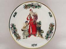 "Royal Vale Chirstmas Bone China Plate Made in England Santa Claus 8 1/4"" plate"
