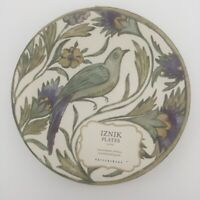 "POTTERY BARN IZNIK BREAD PLATES 6.5""  SET OF 4 NEW IN BOX BIRDS CRACKLE DESIGN"