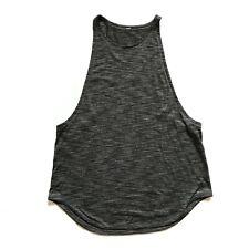 New listing Lululemon Sweat Date Tank Top Shirt Womens 6 8 Gray Sleeveless Muscle High Neck