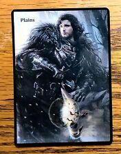 Magic the Gathering MTG Altered art Game of Thrones Jon Snow Plains