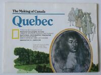 National Geographic Society Canada Quebec 1991 Map Booklet