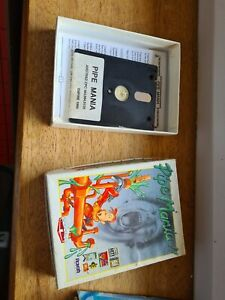 """AMSTRAD 3"""" Disk Cpc game PIPE MANIA £14.99p RARE START 6128 + BOXED SEE WORKING"""