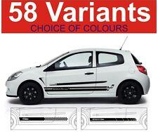 renault clio side stripe decals sticker graphics 2 off