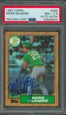 1987 Topps #366 Mark McGwire Auto Autograph PSA/DNA PSA 7.5
