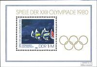 DDR Block60 (kompl.Ausgabe) postfrisch 1980 Olympiade
