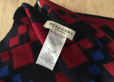 Burberry Cashmere & Silk Scarf Reversible RRP £400 Excellent Condition
