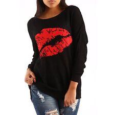 Markenlose Damen-Pullover & Strickware mit Rundhals und Baumwollmischung ohne Verschluss