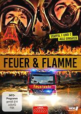Feuer und Flamme - Mit Feuerwehrmännern im Einsatz - Staffel 1+2 DVD *NEU*OVP*
