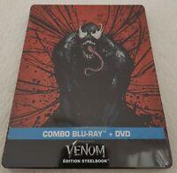 Steelbook Venom Combo Blu Ray / DVD Neuf Sous Blister