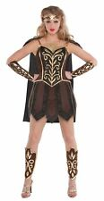 Ladies Gladiator Fancy Dress Costume Xena Warrior Princess Roman Spartan 10-12