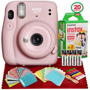 FUJIFILM INSTAX Mini 11 Instant Film Camera (Blush Pink) Bundle