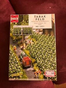 Tabak Feld m. 56 Pflanzen - Busch HO Bausatz - 1221 #E
