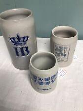 Vintage Lot of 3 German Beer Steins/Mugs Munchen
