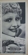 1936 Wrigleys Double Mint Chewing Gum Go to Beauty Shop Blonde Red Lips Ad
