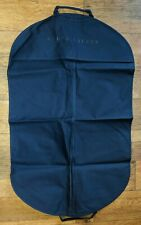 Ralph Lauren Navy Blue Nylon Canvas Zippered logo Suit Jacket Garment Bag