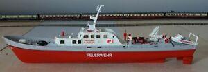 Großes Feuerwehrschiff Prof. LBRD E. ACHILLES Eigenbau von Modellbauer 35cm lang