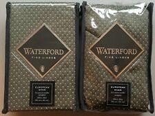 Set of 2 WATERFORD Garner Sage EURO Pillow SHAMS 26x26
