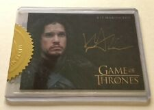 Kit Harington Gold Autograph as Jon Snow Game of Thrones, Case Incentive