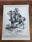 "1914 cartoon print "" boer and briton too "" general botha"