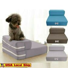 Pet Stairs Breathable Mesh Foldable Detachable Pet Bed Stairs Dog Ramp 2 Steps