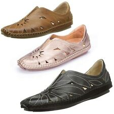 NEW Pikolinos Women's Casual Jerez Slip On Leather Loafer Flat Shoes