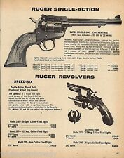 1979 Ruger Super Single-Six Convertible & Speed-Six Revolver Ad