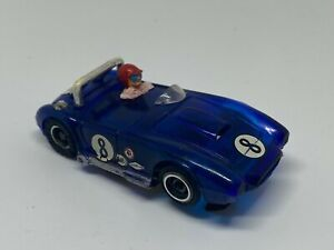 Tyco Pro - #8 AC Cobra - Translucent Blue - HO Slot Car