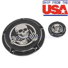 Skull Derby And Timing Timer Cover for Harley Touring FLHT FLTR FLHR FXSB US