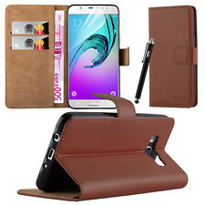 Flip Leather Wallet Book Case Cover Pouch for Various Mobile Phone Screen Guard Samsung Galaxy S5 Brown