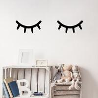 Sleepy Eyes Wall Sticker Set - Nursery Bedroom Sleeping Eyelashes Wall Art Decal