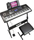 Best Digital Keyboards - RockJam RJ761-SK 61 Keyboard Piano Kit 61 Key Review