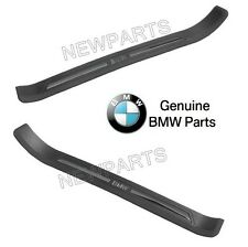 For BMW E39 5 Series Pair Set of Left & Right Black Door Sill Plates Genuine