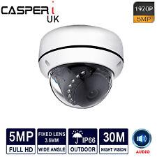 Casperi 5MP Cámara Domo Ip grabar audio Ultra HD 2560*1920P para IR CCTV Sistema