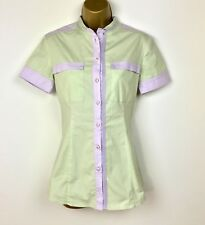 Versus Versace Shirt Womens Size 40 UK Size 10 Green and Purple