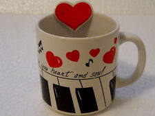 "Russ Berrie & Co ""I love You Heart & Soul"" Mug Coffee Tea Cocoa Valentine"